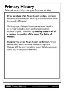 Primary History - Anglo Saxons at War Worksheet
