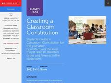 Creating a Classroom Constitution Lesson Plan
