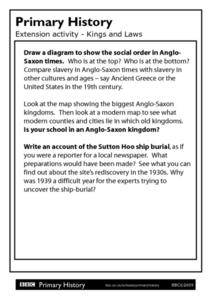 Primary History - Kings and Laws Worksheet