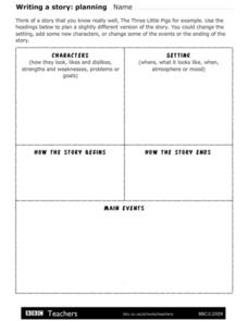 Writing a Story: Planning Worksheet