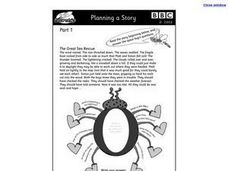 Planning a Story: The Great Sea Rescue Worksheet