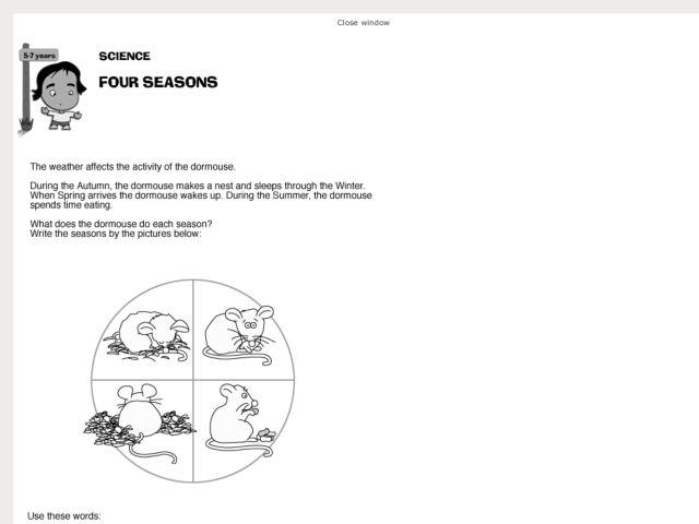 science four seasons worksheet for 2nd 3rd grade lesson planet. Black Bedroom Furniture Sets. Home Design Ideas