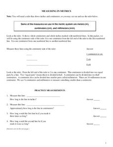 Measuring in Metrics Worksheet