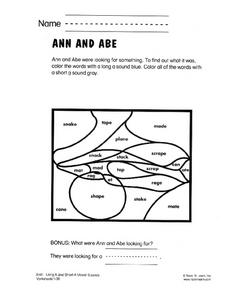 Ann and Abe Worksheet