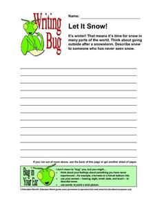 Writing Bug: Let It Snow! Worksheet
