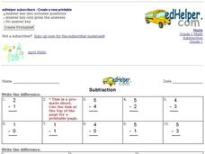 Simple Subtraction Practice Interactive