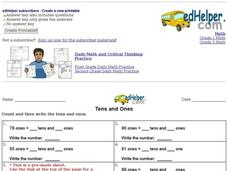 Tens and Ones Worksheet #2 Interactive