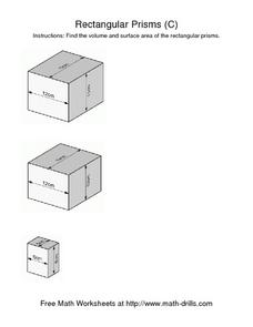 Rectangular Prisms (C) Worksheet