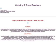 Creating A Travel Brochure Lesson Plan