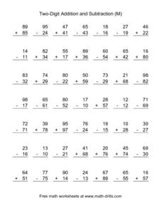 Two-Digit Addition and Subtraction (M) Lesson Plan