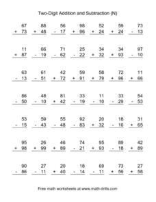Two-Digit Addition and Subtraction (N) Lesson Plan