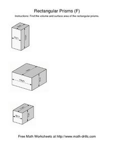 Rectangular Prisms (F) Worksheet