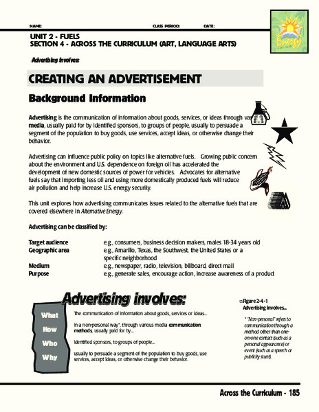 Creating an Advertisement Activities & Project