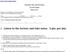 CREATING THE CONSTITUTION Lesson Plan