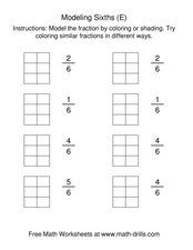 Modeling Sixths [E] Worksheet