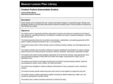 Creature Feature Lesson Plan