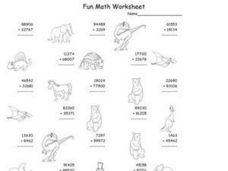 Fun Math Worksheet - Four and Five Digit Addition with Regrouping Worksheet