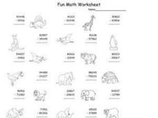 Subtraction: Fun Math Worksheet Worksheet