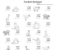Subtraction With Borrowing: Fun Math Worksheet Worksheet