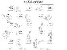 Fun Math Worksheet: Addition 6 Worksheet