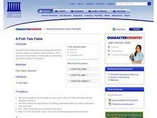 A Fish Tale Fable Lesson Plan