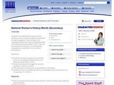National Women's History Month Lesson Plan