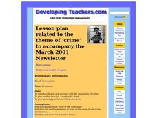 Crime Lesson Plan