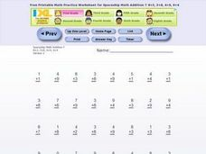 Spaceship Math Addition Worksheet