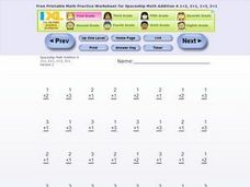 Spaceship Math Addition A Worksheet