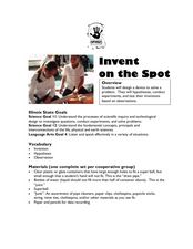 Invent on the Spot Lesson Plan