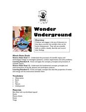 Wonder Underground Lesson Plan