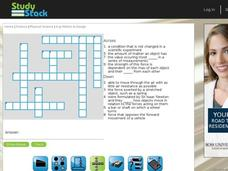 Motion and Design Crossword Puzzle Interactive
