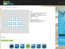 Cell Structure Crossword Puzzle Interactive