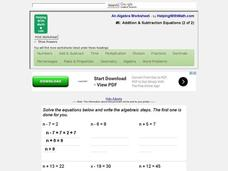 #6: Addition & Subtraction Equations (2 of 2) Interactive
