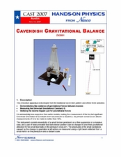 Cavendish Gravitational Balance Lesson Plan