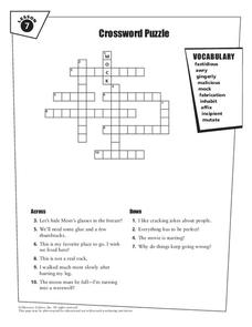 Crossword Puzzle Worksheet