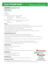 Squeeze Play Lesson Plan