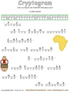 Cryptogram Worksheet