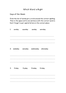 Which Word is Right? Worksheet