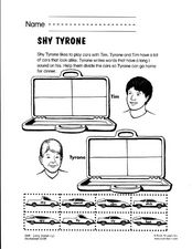 Shy Tyrone: i Vowels Worksheet