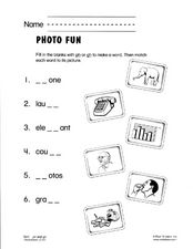 Photo Fun Worksheet