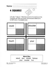 4 Square Worksheet