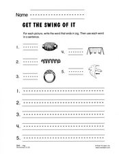 Get The Swing Of It Worksheet