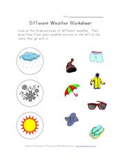 Different Weather Worksheet Worksheet