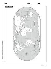 Physical World Map Worksheet