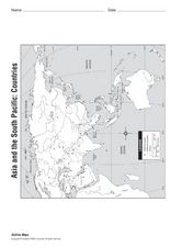 Asia and the South Pacific Map Worksheet