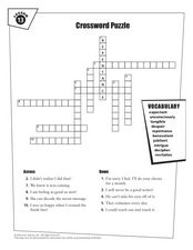 Crossword Puzzle Lesson 13 Worksheet