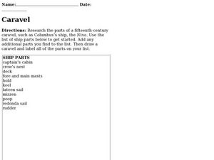 Caravel: Research Skills Worksheet
