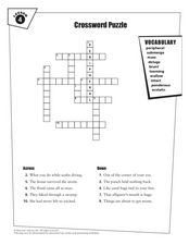 Crossword Puzzle Lesson 4 Worksheet