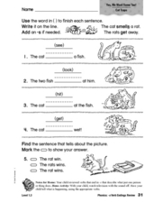 Phonics: -s Verb Endings Review Worksheet